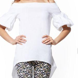 New York & COMPANY Hi-Lo Poplin Tunic Shirt